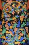 韩国龙绘画 库存照片