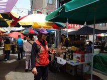 韩国,国家,市场, 库存照片