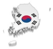 韩国(包括的裁减路线) 免版税库存照片