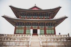 韩国建筑学,宫殿 免版税图库摄影