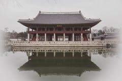 韩国建筑学,宫殿 库存照片