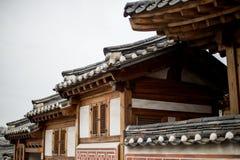 韩国建筑学 免版税库存图片