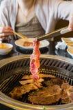 韩国BBQ肉 库存照片