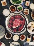韩国BBQ 库存图片