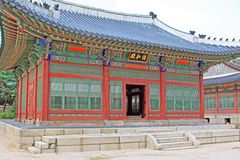 韩国Deoksugung宫殿 库存照片