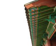 韩国kyongbok横向宫殿屋顶 免版税库存图片