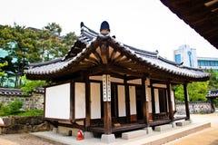 韩国tranditional村庄房子 免版税库存图片