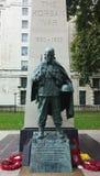 韩战雕象在伦敦 免版税图库摄影