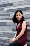 韩文俏丽的妇女 库存图片