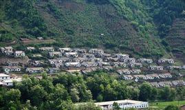 韩文北部住宅 免版税图库摄影