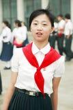 韩文北部先驱年轻人 免版税库存照片