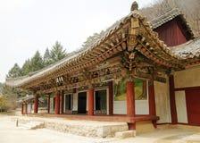 韩文北部寺庙 免版税库存图片