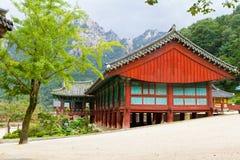 韩文寺庙 免版税库存照片