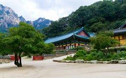 韩文寺庙 免版税库存图片
