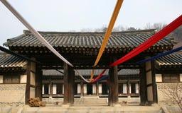 韩文寺庙 库存图片