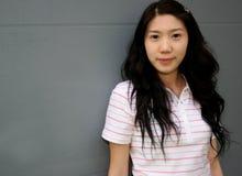 韩文模型俏丽 库存图片