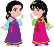 韩文的女孩 免版税图库摄影