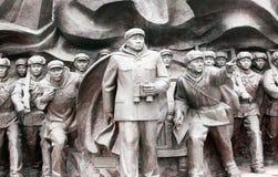 韩文纪念雕象战争 免版税库存图片