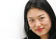 韩文纵向妇女 免版税库存图片