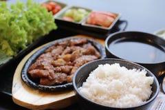韩文食物集 免版税图库摄影