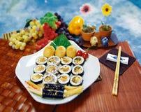 韩文食物 库存照片