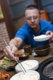 韩文餐馆 图库摄影