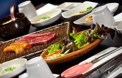 韩文BBQ烤肉- Gogi Gui 免版税库存图片