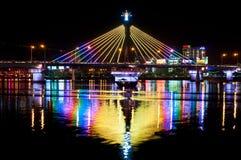 韩河桥梁在Danang 免版税库存照片