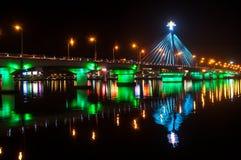 韩河桥梁 库存图片