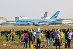 韩航A380  图库摄影