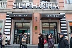 韩街道的Sephora界面 库存图片
