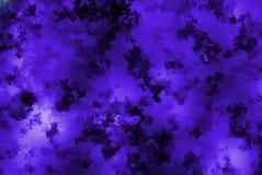 韩紫色-深蓝小立方体抽象背景墙纸 免版税库存图片