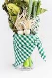 韭葱和绿色 库存照片