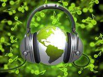 音乐世界 库存例证
