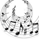音乐主题 免版税库存照片
