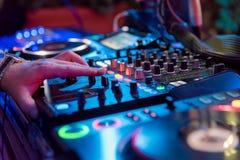 音乐事件的专业混音器 图库摄影