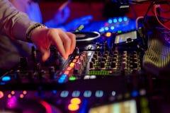 音乐事件的专业混音器 库存图片