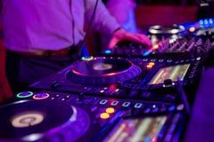 音乐事件的专业混音器 免版税库存照片