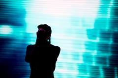 音乐会人群迷居住 阶段的艺术家 图库摄影