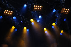 音乐会光 免版税库存图片