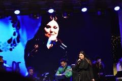 音乐会宝拉Seling奥拉迪亚2016年12月 免版税库存照片