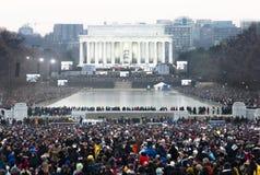 音乐会就职典礼林肯纪念品obama 免版税库存图片