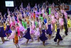 音乐会杯子节目节奏性体操的kyiv 图库摄影