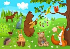 音乐会森林 向量例证
