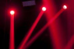 音乐会的红灯 免版税图库摄影