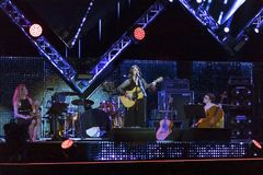 音乐会的阶段的卡门Consoli, 5月1日的 库存照片
