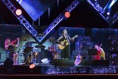 音乐会的阶段的卡门Consoli, 5月1日的 免版税库存图片