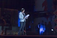 音乐会的阶段的比安卡Berlinguer第一Ma 免版税库存图片