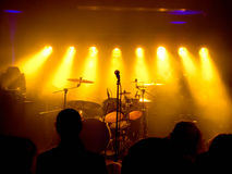 音乐会空的阶段 免版税库存图片