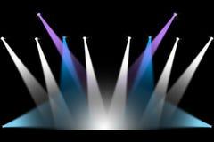 音乐会阶段照明设备 库存照片